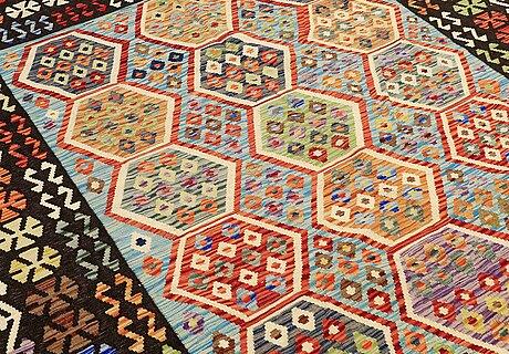A rug, kilim, ca 246 x 205 cm.