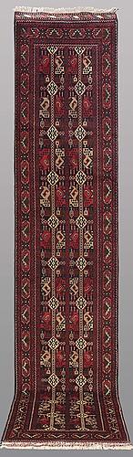 "A runner, afghan so called "" khan mohammadi"", ca 384 x 80 cm."
