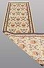 A runner, figural ghom part silk, ca 410 x 88 cm.