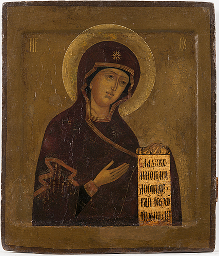 A russian icon, latter half of the 19th century.