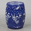 A blue and white garden seat, qing dynasty, late 19th century.