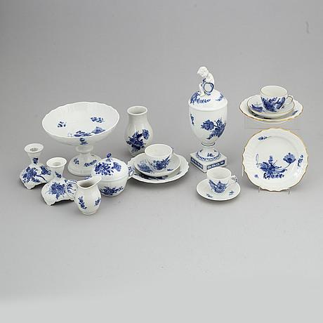 A royal copenhagen 'blå blomst' part coffee and tea service, denmark (67 pieces).