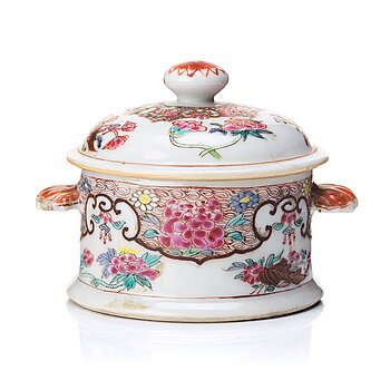 708. A famille rose miniature tureen with cover, Qing dynasty, Yongzheng (1723-35).