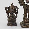 Figuriner, tre stycken, brons. indien, 1900-tal.