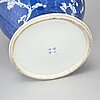 A blue and white jar with cover, qing dynasty, late 19th century.