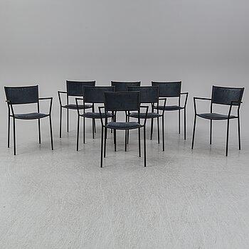 "CHRIS MARTIN,  a set of 8 ""Jig chairs"", Massproductions, 21st Century."