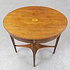An end of the 19th century late gustavian style mahogany table.