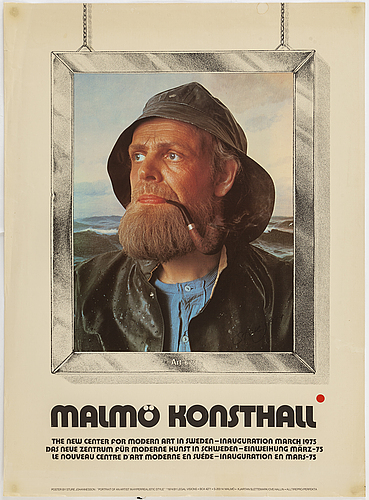 Kjartan slettemark and sture johannesson, poster, offset in colours, malmö konsthall, 1975.