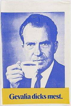 KJARTAN SLETTEMARK, poster, offset in colours, 1970s.