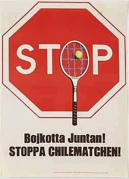 KJARTAN SLETTEMARK, poster, offset in colours, 1975.