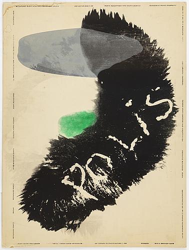 Kjartan slettemark, poster, offset, galleri observatorium, 1968.