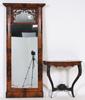 Spegel, senempire samt konsolbord, nyrokoko, 1800-talets mitt.