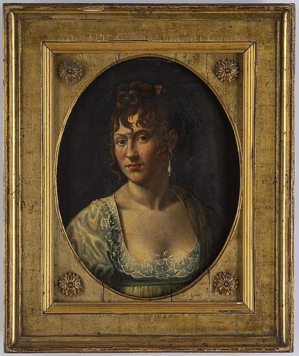 OkÄnd konstnÄr, tidigt 1800-tal, olja på pannå.