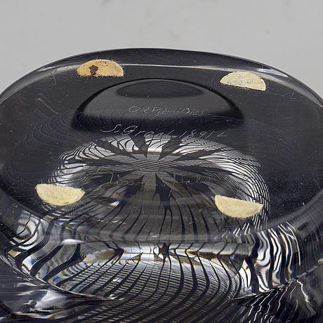 Edward hald, a 'graal' vase, orrefors, signed.