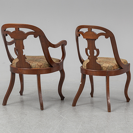 A set of seven 19th century chairs.