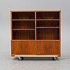 Carl malmsten, a mahogany bookshelf.