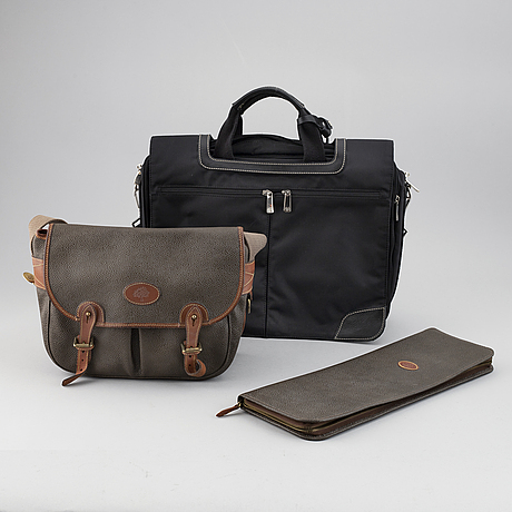 Mulberry, a set of three bags.