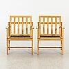 BØrge mogensen, two armchairs for fredericia stolefabrik, danmark 1960's.
