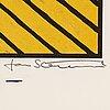 Jan stenmark, färglitografi, signerad 166/190.