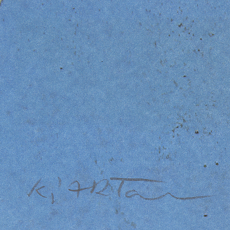 Kjartan slettemark, lithograph in colours, signed 119/250.