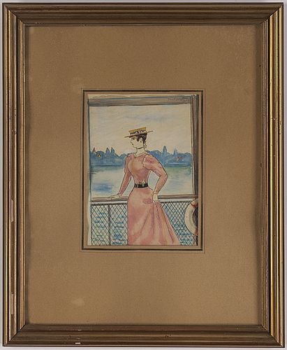 Kurt jungstedt, watercolours, 4, signed one dated 1925.