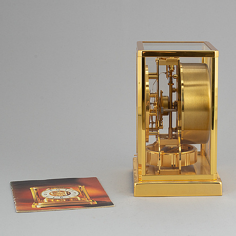 Jaeger le coultre, atmos mantle clock, late 20th century.