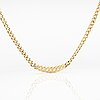 A 14k gold necklace with diamonds ca 0.035 ct in total.