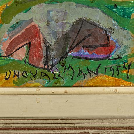 Uno vallman, oil on panel, signed.