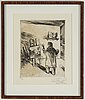 Evert lundquist, etching, 1955, signed.
