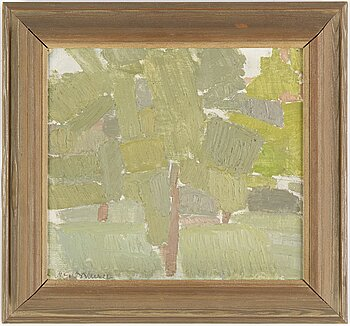 NILS-GÖRAN BRUNNER, oil on canvas/panel, signed. Executed 1957.