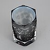Olle alberius, an ariel glass vase, orrefors, signed.