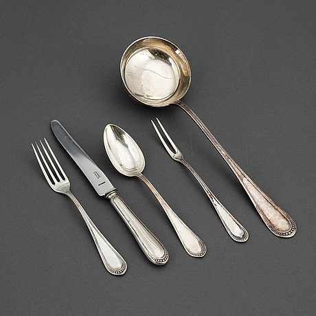 Bestickservis, 32 delar, silver, 1900-talets första hälft.