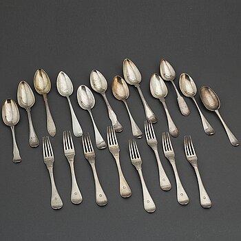 BESTICK, 20 st, silver, 1700-1900-tal.