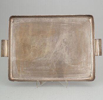 A sterling silver tray, Mexico.