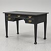 A painted pine desk, early 20th century.