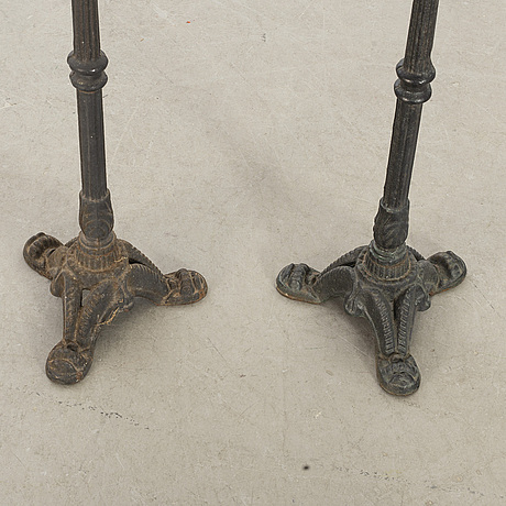 A pair of smal tables.