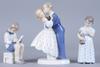 Figuriner, 3 st, porslin, kongl dansk samt bing & gröndal.