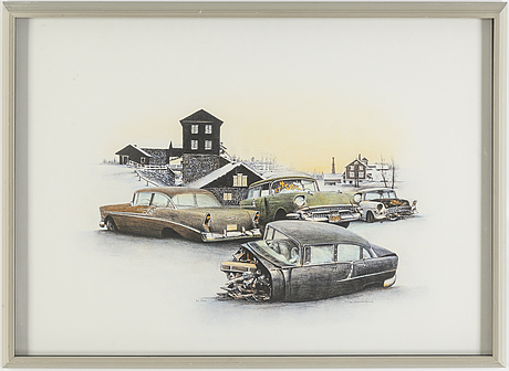 Ulf wahlberg, lithograph in colours, signed 71/290.