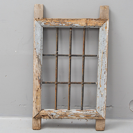 An 19th century window grill from spain.