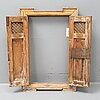 A 1800's wooden window from spain.
