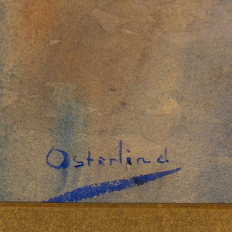 Allan Österlind, akvarell, signerad.
