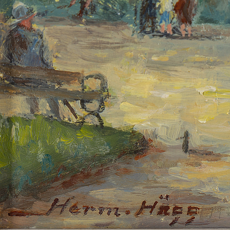 Herman hÄgg, oil on panel, signed and dated 1960.