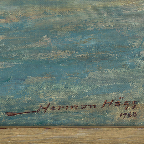 Herman hÄgg, oil on canvas, signed and dated 1960.