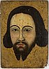 Icon/painting on panel, christ, 19th century.