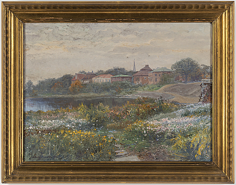 Anshelm schultzberg, oil on canvas, signed and dated 1931.