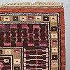"Märta måås-fjetterström, matta, ""svarta trädgårdsmattan"", flossa, ca 384-385,5 x 289-303 cm, signerad mmf."