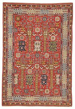 "180. Märta Måås-Fjetterström, A carpet, ""Röda trädgårdsmattan"", knotted pile, ca 335,5-337,5 x 224,5-230,5 cm, signed AB MMF."