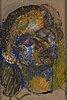Siri derkert, oil on canvas mounted to panel.