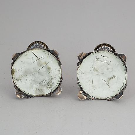 A pair of silver empire candle-sticks by erik adolf zethelius, stockholm 1839.