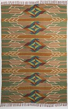 LAILA KARTTUNEN, A 1920s Finnish flat weave carpet for Wetterfoff. Circa 318x210 cm.
